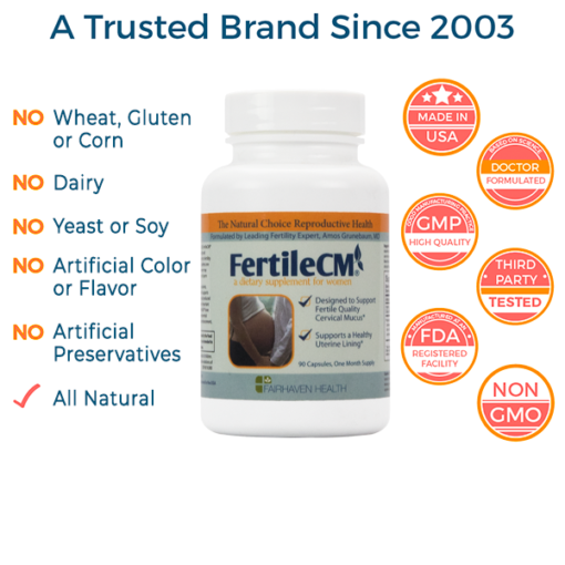 cervical mucus supplement, non-gmo, all natural