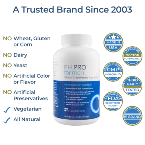 male fertility pill, all natural, clinically proven male fertility support, FH Pro Men