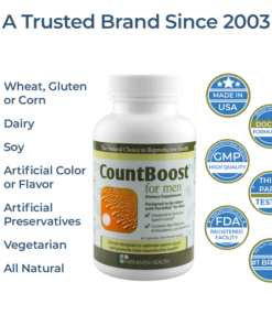 boost sperm count pill, non-gmo, all natural male fertility vitamin, countboost